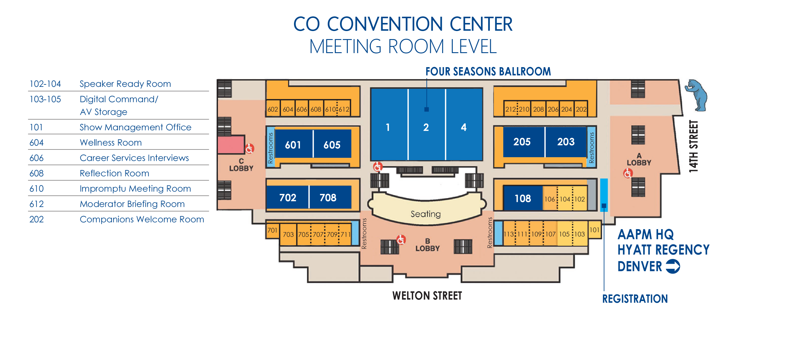 Meeting/Session Rooms Map
